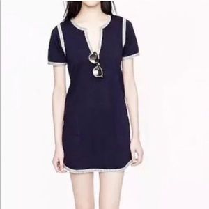 J crew navy blue and white tunic
